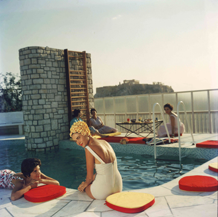 , 'Penthouse Pool, 1961: Young women by the Canellopoulos penthouse pool, Athens,' 1961, Staley-Wise Gallery