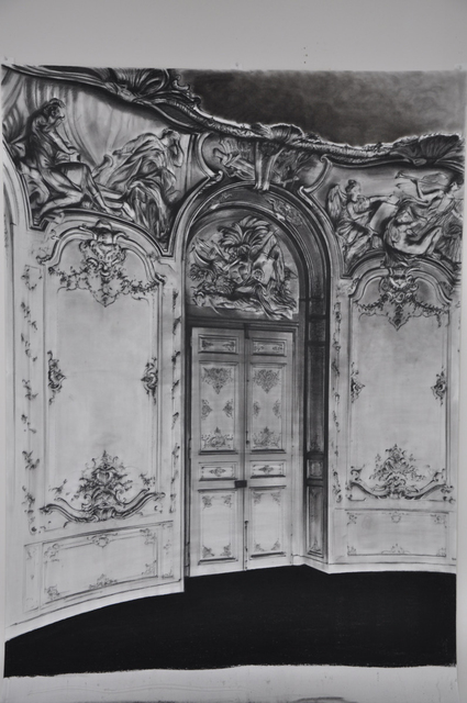 Aleksandar Duravcevic, 'Hotel de Soubise (Interior)', 2008, Drawing, Collage or other Work on Paper, Charcoal on paper, espacio artkunstarte