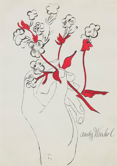 Andy Warhol, 'Hand with Flowers', circa 1957, Phillips