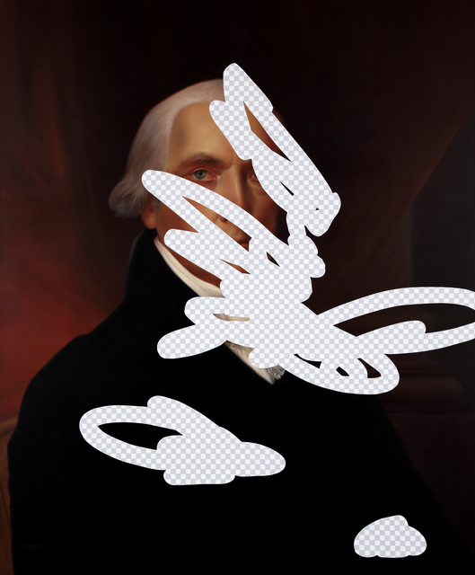 , 'Moderation On One Side, Prudence On The Other (James Madison, Erasure No. 9),' 2018, Modernism Inc.
