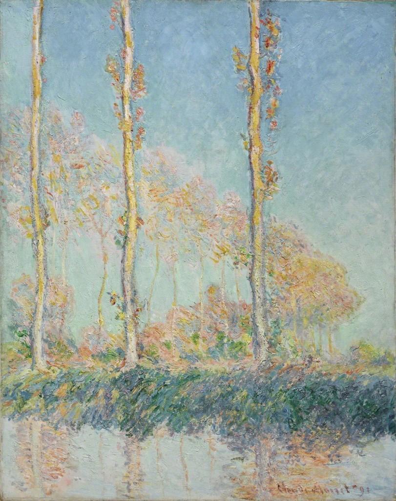 Claude Monet Poplars 1891