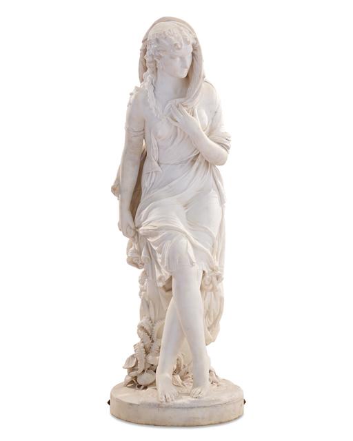 Giovanni Battista Lombardi, 'Susanna at the Fountain', ca. 1860, Sculpture, White marble,  M.S. Rau
