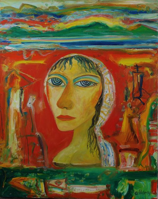 , 'Woman with headscarf,' , Castlegate House Gallery