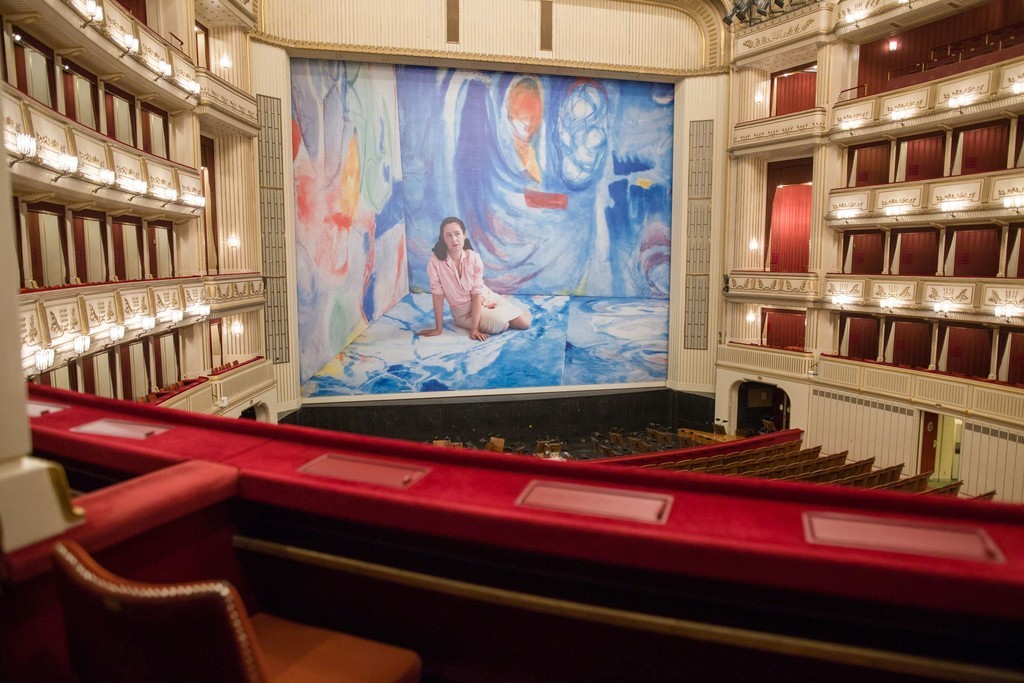 Dominique Gonzalez-Foerster, Helen & Gordon, Safety Curtain 2015/2016, Vienna State Opera, Copyright: museum in progress (www.mip.at), Photo: Andreas Scheiblecker