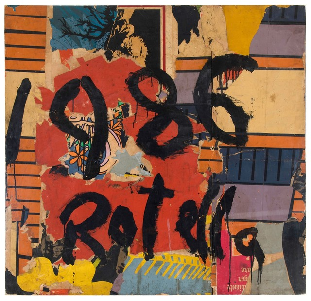 Mimmo Rotella, 'Untitled', 1986, Painting, Overpainted board., Cambi