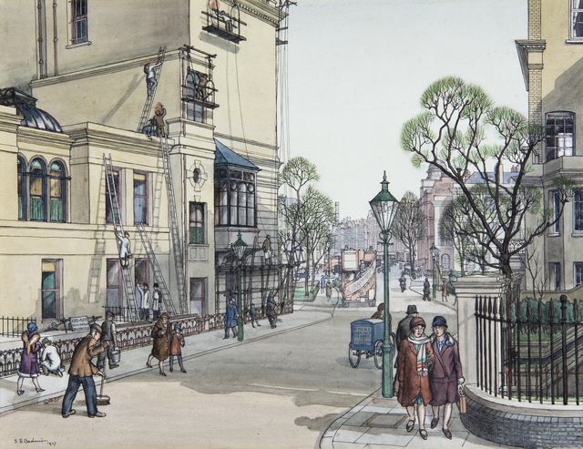 , 'The Back of the French School, Cromwell Gardens, South Kensington ,' 1909, Chris Beetles Gallery