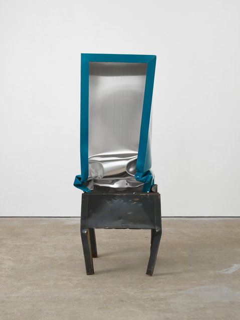Angela de la Cruz, 'Crate (Turquoise)', 2017, Galerie Thomas Schulte