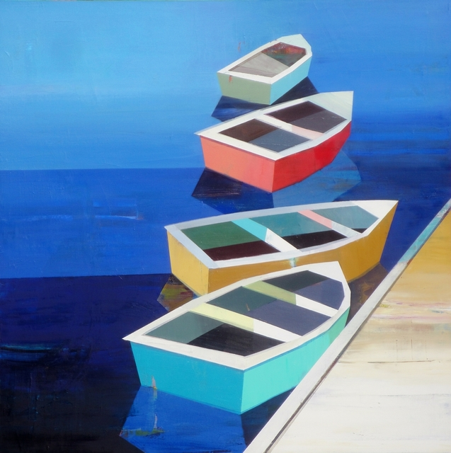 , 'Colorful Boats in the Bay #14,' 2017, J GO Gallery