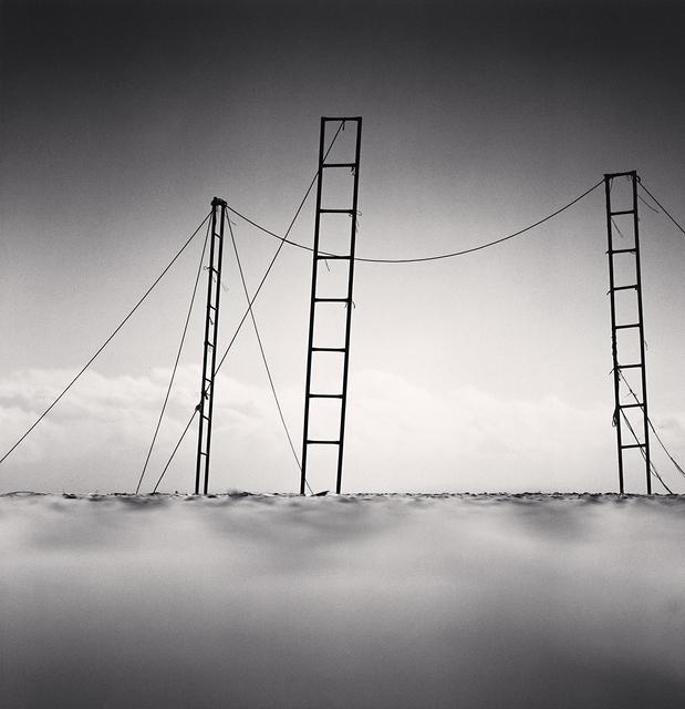 Michael Kenna, 'Three Ladders, Sampo Beach, Gangwndo, South Korea', 2006, photo-eye Gallery