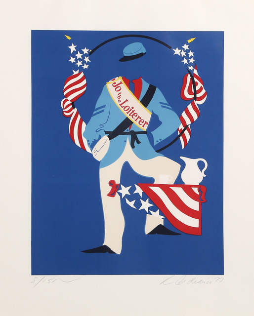 Robert Indiana, 'Joe the Loiterer from Mother of Us All', 1977, Print, Lithograph on Arches, RoGallery