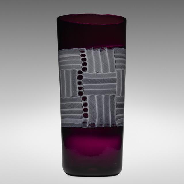 Paolo Venini, 'Monumental Zanfirico Mosaico vase', 1954, Wright