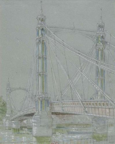 , 'Albert Bridge,' 2016, Robert Eagle Fine Art