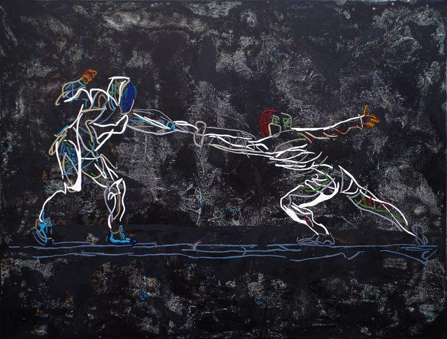 Uli Lächelt, 'Fencing duel', 2018, Galerie Makowski