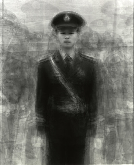 , '24 army soldiers standing guard over Tian'anmen Square, May 2, 2009, Tian'anmen Square Beijing, China,' 2009, Pace/MacGill Gallery