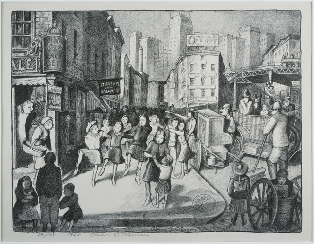 Glenn O. Coleman, 'Hurdy-Gurdy Ballet', 1928, Print, Lithograph on paper, Phillips Collection