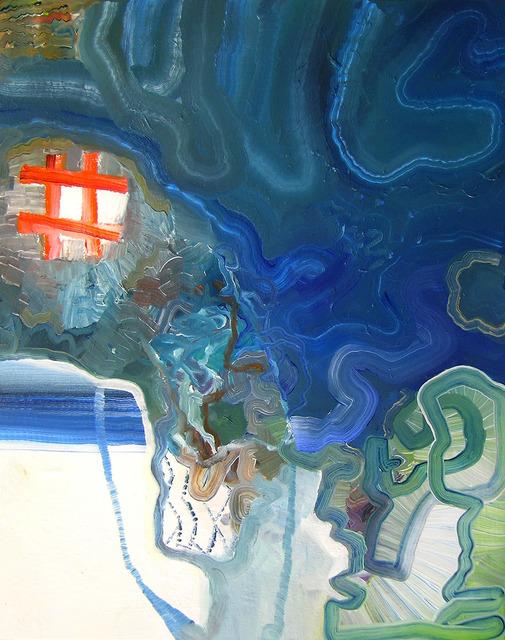 , 'BlueSkinny,' 2013, Kathryn Markel Fine Arts