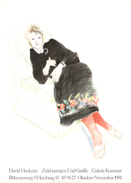 David Hockney, 'Celia In A Black Dress With Colored Border', 1981, ArtWise