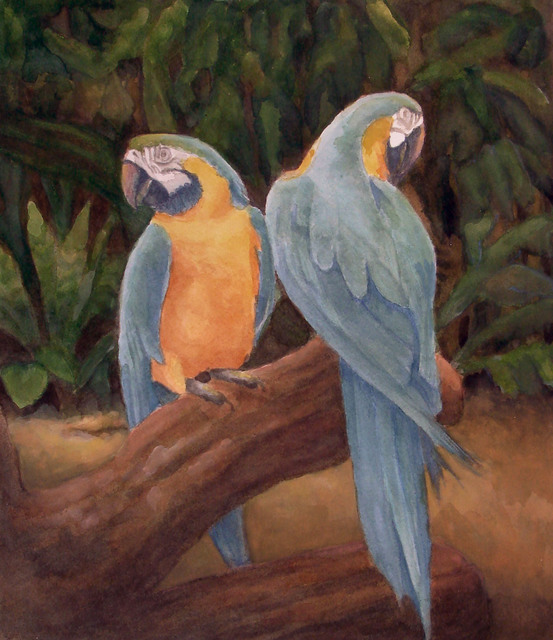 , 'Blue and Yellow Macaws,' 2014, InLiquid