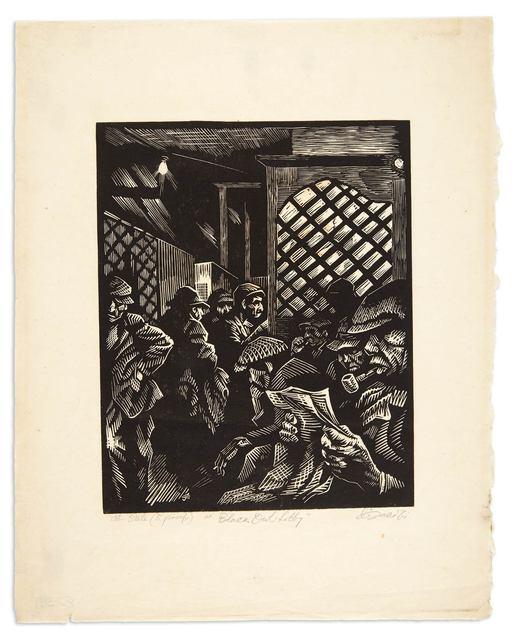 Eli Jacobi, 'BLACK OWL LOBBY', circa 1940, Doyle