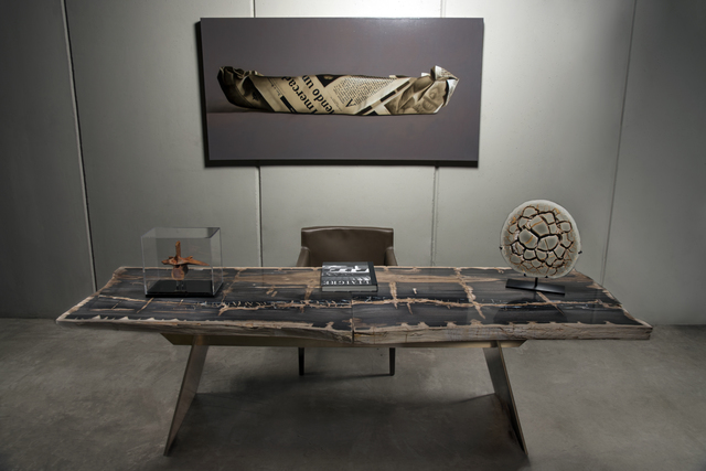 , 'Petrified Wood Desk,' 2017, PIETRA GALLERY