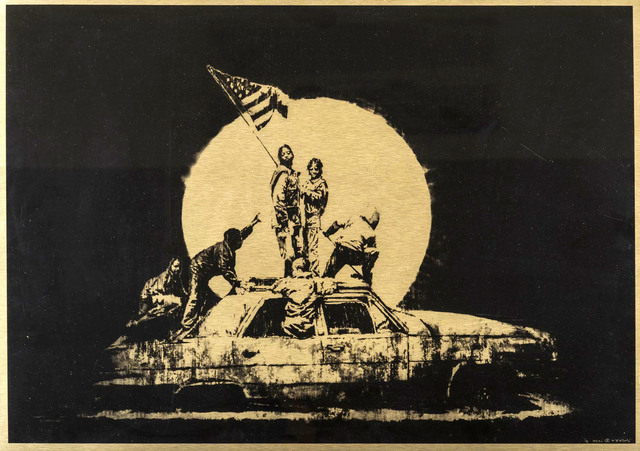 Banksy, 'Flag (Ghetto Crew AP) - Signed', 2007, Hang-Up Gallery
