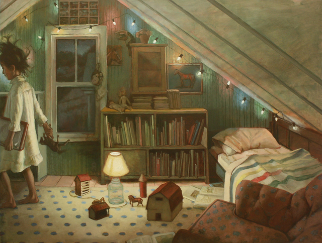 , 'Honey's Room, Horses,' , Dowling Walsh