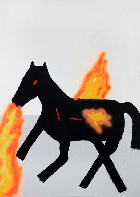 , 'Flamethrower Pegasus,' 2017, ROBERTO PARADISE