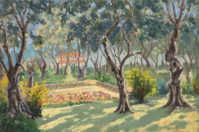 , 'The Sunken Garden at La Dragonnière, Cap Martin,' ca. 1930's, Heather James Fine Art