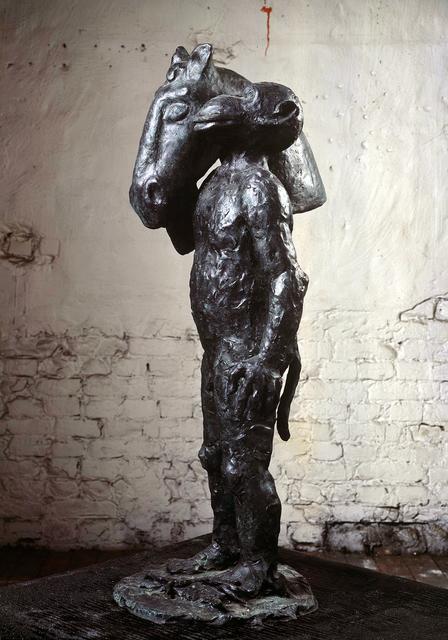 "Jörg Immendorff, '""Malerstamm - Blinky""', 2002, Sculpture, Bronze. From an edition of 6, Michael Werner Gallery"