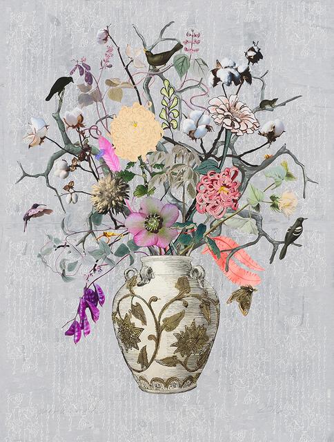 , 'Korean Vase with Hyacinth Beans, Cotton and Chrysanthemum,' 2016, Lyndsey Ingram