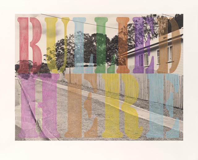 , 'Suburban Landscape No. 3. 'Bullied Here',' 2013, Tyler Rollins Fine Art