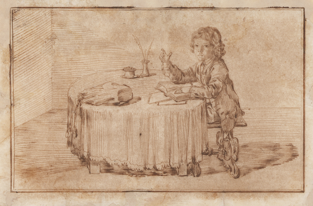 , 'Portrait of Serafino Falzacappa, Seated at a Table,' 1714, Stephen Ongpin Fine Art