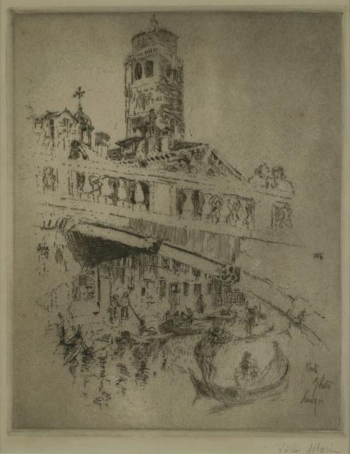 John Marin (1870-1953), 'Ponte Ghetto, Venice', 1907, Private Collection, NY