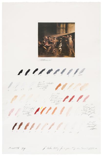 """Osvaldo Romberg, 'Estudio del color para """"La Vocación de San Mateo"""" (Caravaggio)', 1974, Herlitzka + Faria"""