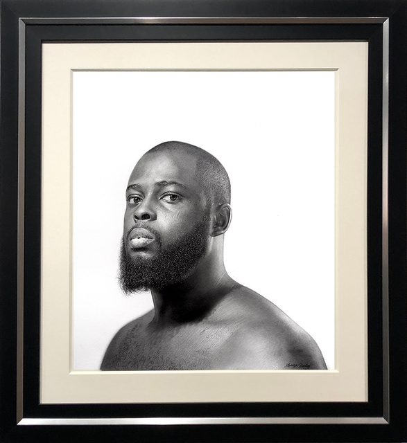 Arinze Stanley, 'Portrait of Arinze Stanley', 2021, Drawing, Collage or other Work on Paper, Charcoal and Graphite on Paper, ARCADIA CONTEMPORARY