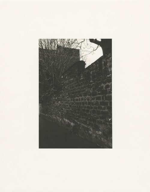 Tomio Seike, 'Rue Becquerel - 'brick wall', Paris, February 1992', 1992, Photography, Toned gelatin silver print, Hamiltons Gallery