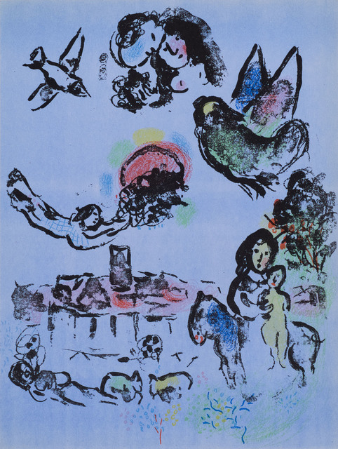 Marc Chagall, 'Nocturne à Vence (Nocturne at Vence)', 1963, Print, Original lithograph printed in colors on wove paper., Galerie d'Orsay
