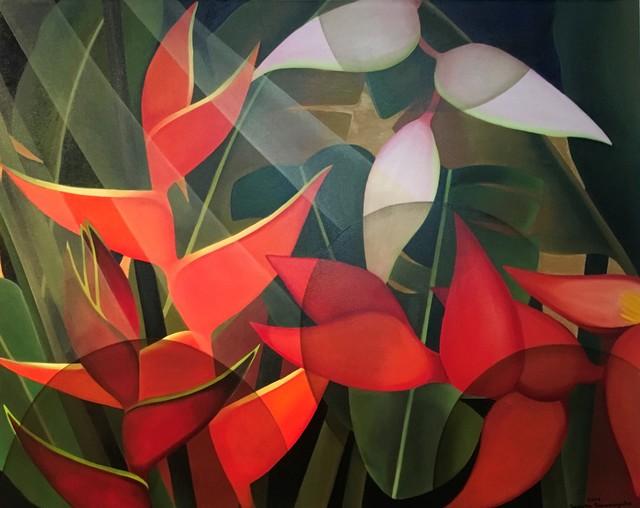 , 'Heliconias,' 2019, Grosvenor Gallery