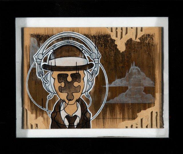 Yoskay Yamamoto, 'Missing Piece', 2005, Painting, Acrylic on cardboard, Heritage Auctions