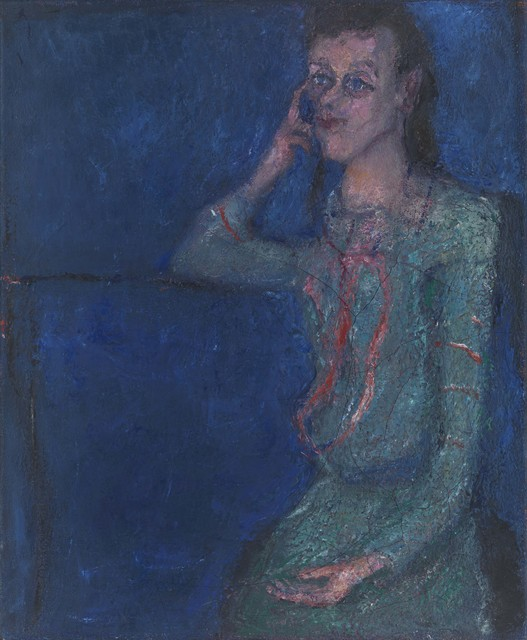 , 'L. in blauem Gewand,' 1982-1982, Galerie Michael Haas