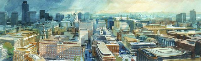 Alexander Creswell, 'London City Skyline II', c.1994, Roseberys