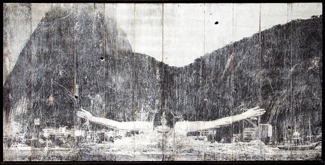 , 'GIANTS, Léonie PERIAULT from France, Botafogo, © Comité international Olympique, Rio de Janeiro, Brazil, ink on wood, 2016,' 2016, Jeffrey Deitch