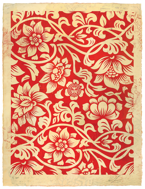 , 'Floral Takeover (Cream/Red),' 2017, Treason Gallery