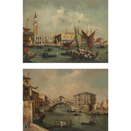 Two Artworks: The Bacino San Marco and The Rialto
