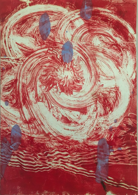 Catherine Howe, 'Red Flower 3', 2015, Drawing, Collage or other Work on Paper, Monotype, Cross Contemporary Partners