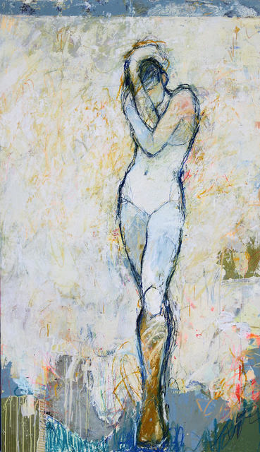 """, '""""Hera 11"""" Large-Scale Gestural Figurative Mixed Media Painting,' 2018, Eisenhauer Gallery"""