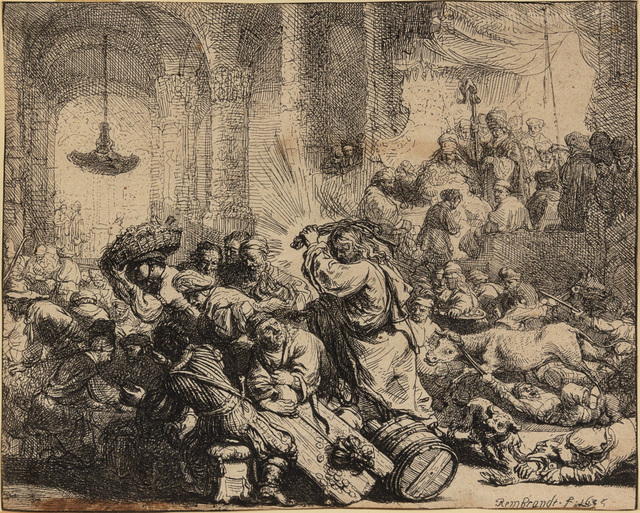 Rembrandt van Rijn, 'Christ Driving the Money Changers from the Temple', 1635, Hindman
