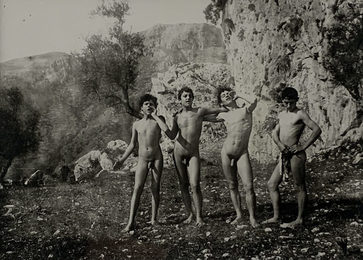 Untitled (Four Italian Youth at Play)