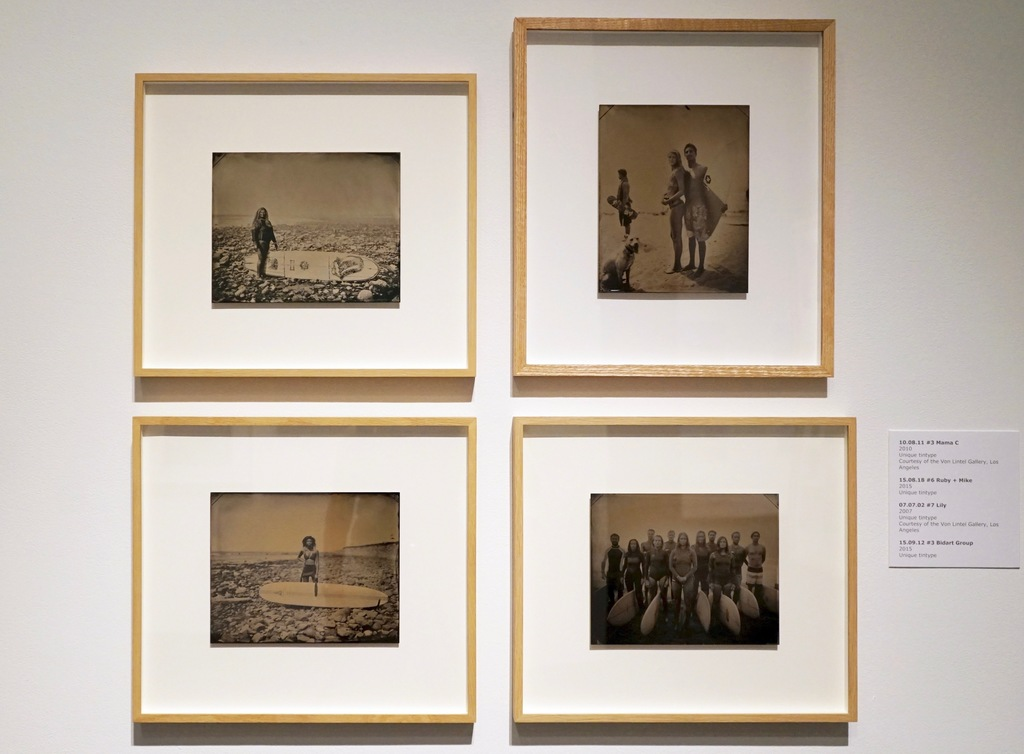Joni Sternbach's unique tintypes as shown at her solo exhibition at the Harn Museum of Art in 2018