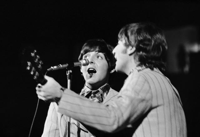 , 'Paul McCartney and John Lennon on Stage, Maryland ,' 1966, TASCHEN